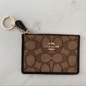 Coach Zip Keychain Wallet